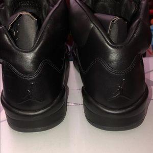 Jordan Shoes - Jordan 5 Black premium leather